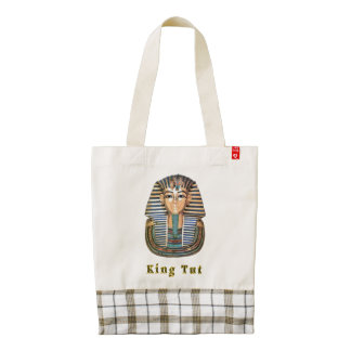 King  tut art products zazzle HEART tote bag