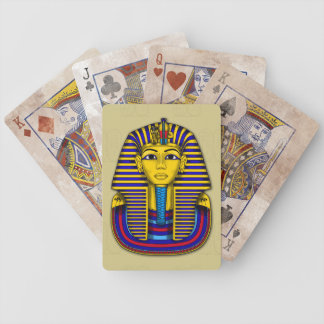 King Tut Death Mask Graphic Illustration Bicycle Playing Cards