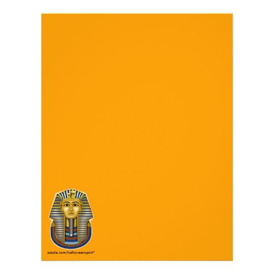 King Tut Gold Mask Letterhead