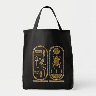 King Tut  Hieroglyphics Canvas Bags