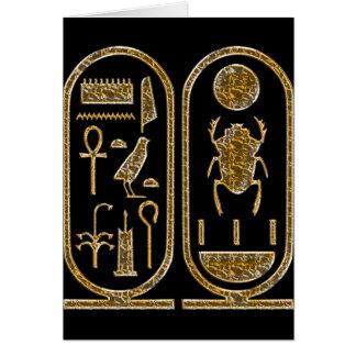 King Tut  Hieroglyphics Card