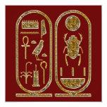 King Tut  Hieroglyphics Invitations
