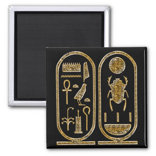 King Tut  Hieroglyphics Magnet