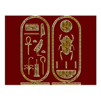 King Tut  Hieroglyphics Postcard