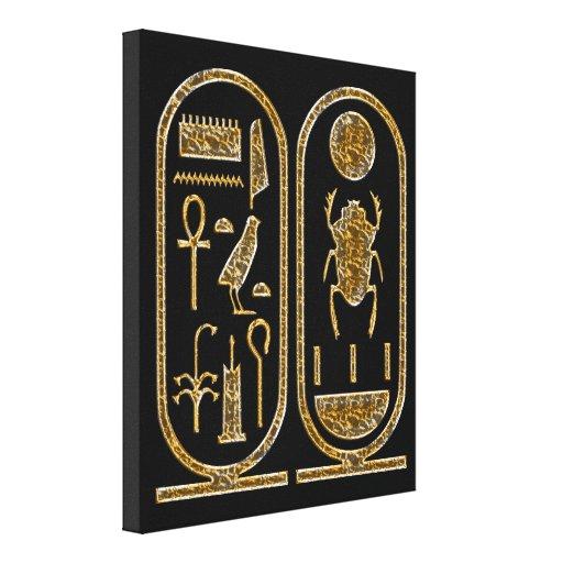 King Tut  Hieroglyphics Wrapped Canvas Canvas Prints