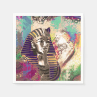 King Tut  Mask Abstract composition Napkin