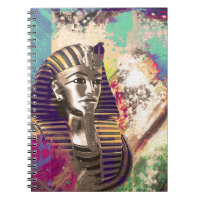 King Tut  Mask Abstract composition Notebook