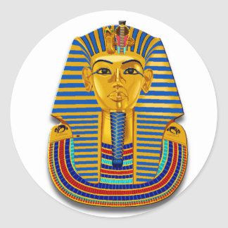 King Tut Mask Classic Round Sticker