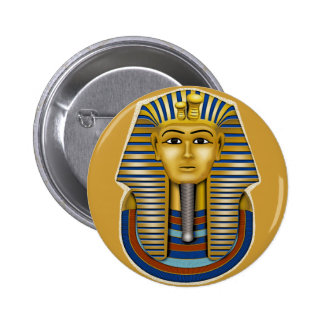 King Tut Mask Costume Tees n Stuff 2 Inch Round Button