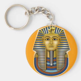King Tut Mask Costume Tees n Stuff Basic Round Button Keychain