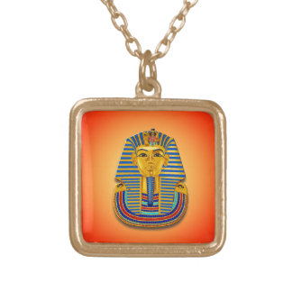 King Tut Mask Gold Plated Necklace