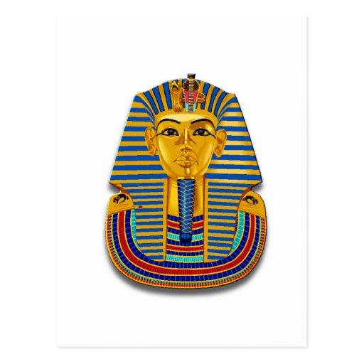 King Tut Mask Postcard