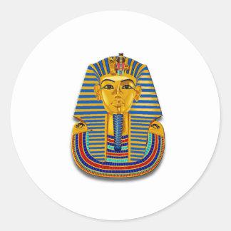 King Tut Mask Round Stickers