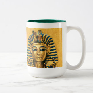 King Tut Mug Gold and Turquoise