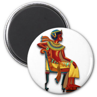 King Tut on his Throne Magnet