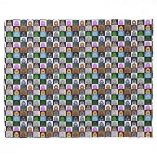 King Tut Pop Art Fleece Blanket