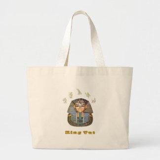 King Tut t-shirt Large Tote Bag