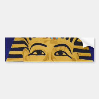 King Tut Tutankhamun gold burial mask sticker art Car Bumper Sticker