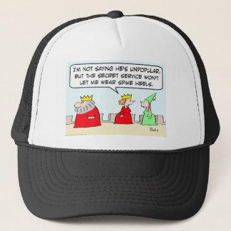 king unpopular spike heels secret service queen trucker hat