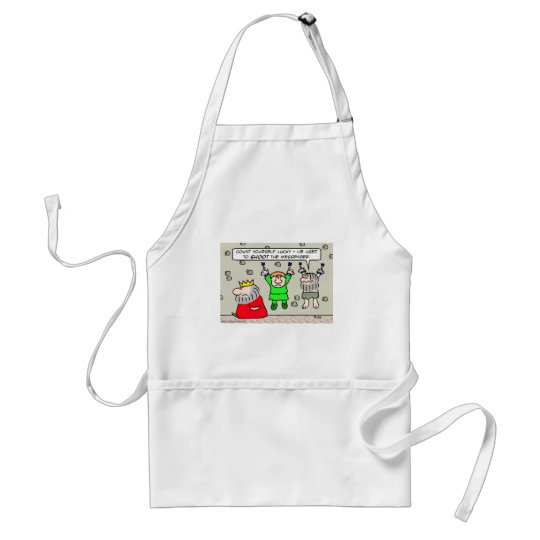 King used to shoot the messenger. adult apron