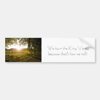 King Valley Touring Bumper Sticker