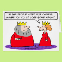 king voted change lose weight card