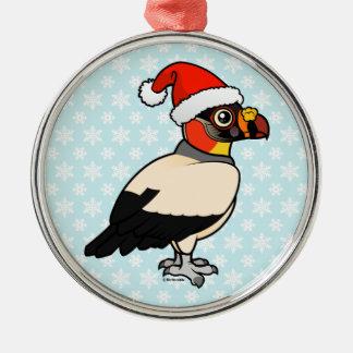 King Vulture Santa Metal Ornament