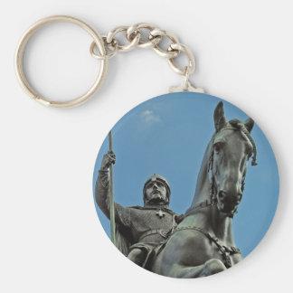 King Wenceslas(4) Basic Round Button Keychain