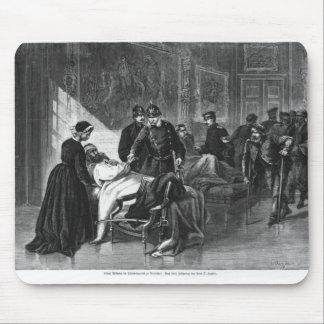 King Wilhelm I  visiting the hospital Mousepad