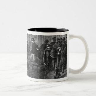 King Wilhelm I  visiting the hospital Two-Tone Coffee Mug