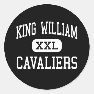 King William - Cavaliers - High - King William Round Sticker