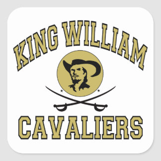 King William Cavaliers Square Sticker