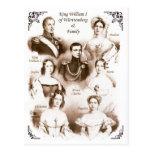 King William I of Württemberg & Family Postcard