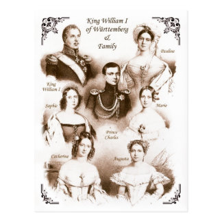 King William I of Württemberg & Family Postcard