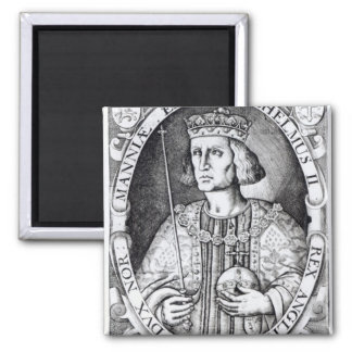 King William II of England, 1618 2 Inch Square Magnet