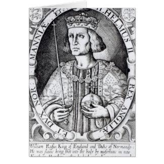 King William II of England, 1618 Card