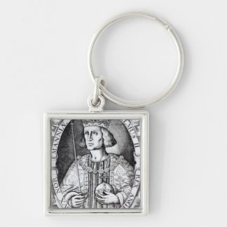 King William II of England, 1618 Silver-Colored Square Keychain