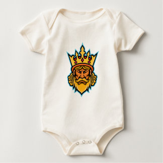King With Crown Mascot Baby Bodysuit