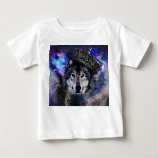 king wolf - crown wolf - grey wolf baby T-Shirt
