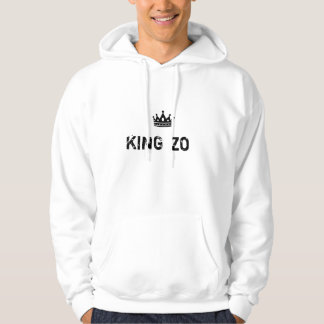 KING ZO White Mens Hoodie