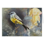 Kingbird Blank Card by Andrew Denman