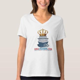KingCruisers Plus Size Jersey V-Neck T-Shirt