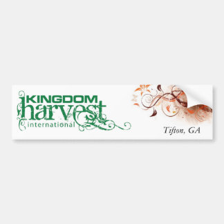 Kingdom Harvest International Bumper Sticker Car Bumper Sticker
