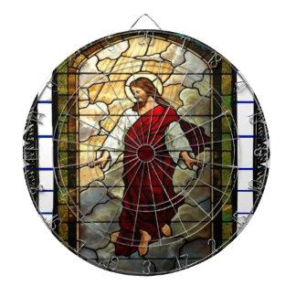 KINGDOM JESUS CRIST 02 CATHOLIC CUSTOMIZABLE PROD DARTBOARD WITH DARTS