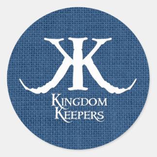 Kingdom Keepers Blue Circle Sticker