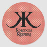 Kingdom Keepers Coral Circle Sticker