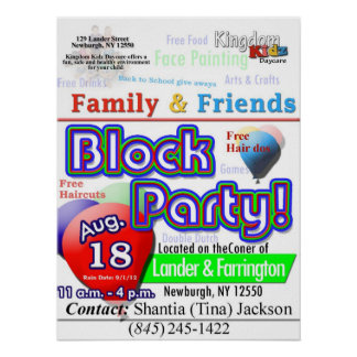 Kingdom Kidz Block Party Flyer Poster