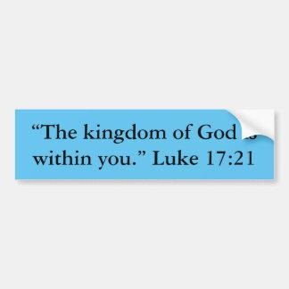 """Kingdom"" Motivational Bumper Sticker"