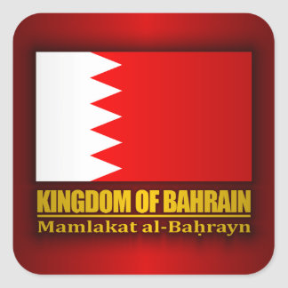 Kingdom of Bahrain Flag Square Sticker