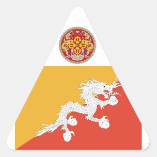 Kingdom of Bhutan flag, dragon fire Triangle Sticker